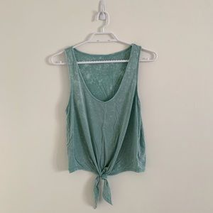 AMERICAN EAGLE TURQUOISE TIE FRONT TANK SIZE SMALL